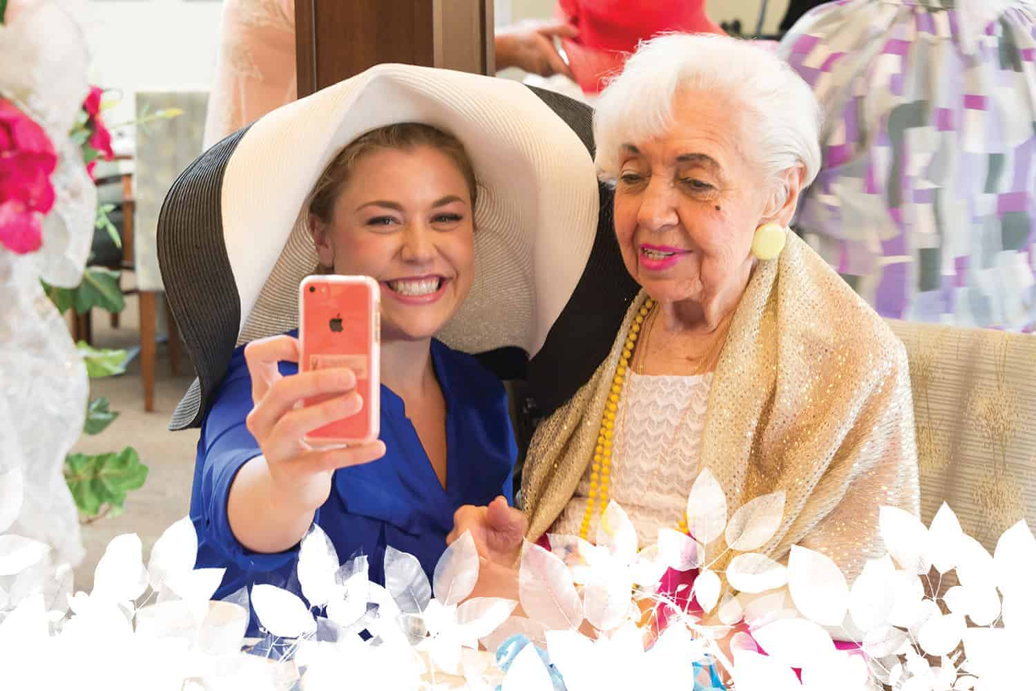 taking a selfie and other resident activities